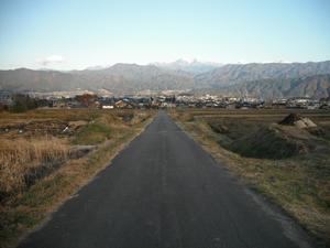 駒ヶ根の農道