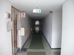 宿泊棟(2号館)の廊下