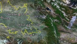 キルギスとの国境付近
