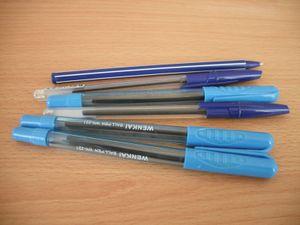 青色のボールペン