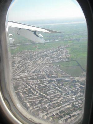 ウルゲンチの上空