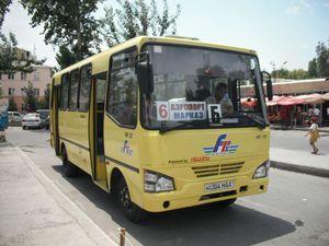 フェルガナ市内のバス