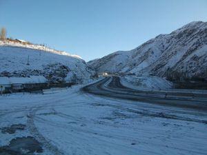 冬のカムチック峠(フェルガナ方面)