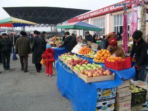 バザールの果物セール