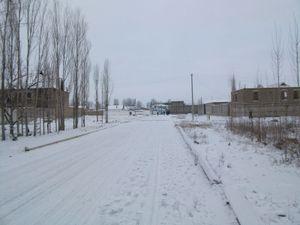雪の通勤路