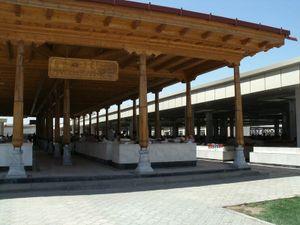 サマルカンドのパン売り場