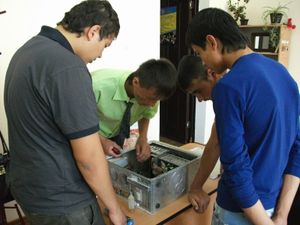 パソコン修理の実習