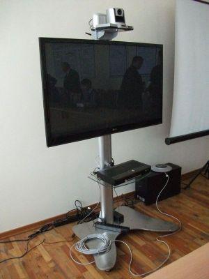 大学のテレビ会議システム(停電中)
