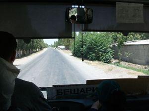 31番のバスの車内