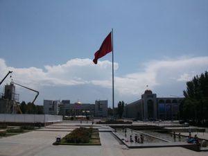 大きなキルギス国旗
