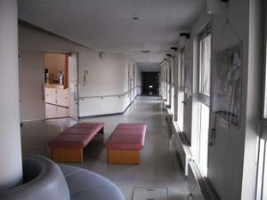 研修棟の廊下