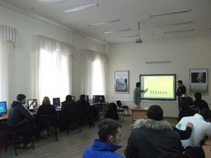コンピューター教室での講義