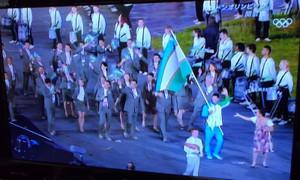 ロンドンオリンピックのウズベキスタン代表団