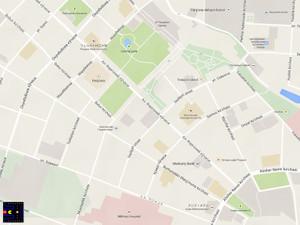フェルガナ中心部の地図