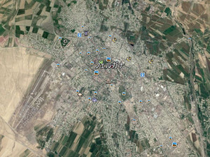 フェルガナ市の衛星写真