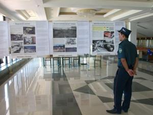 原爆被害に関する展示(ウルゲンチでの日本展)