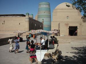 ウズベキスタンの観光地(ヒヴァ)