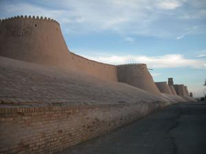 ヒヴァの城壁