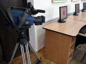 テレビ局の取材