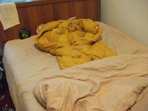 寝袋を実戦に投入