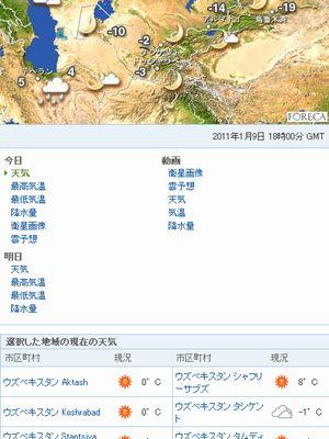 ウズベキスタンの天気予報