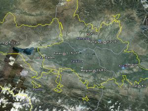 フェルガナ盆地の国境線