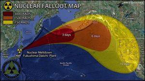 偏西風で拡散する放射能