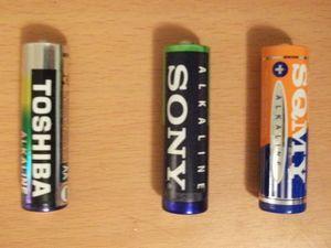 単3アルカリ乾電池の例