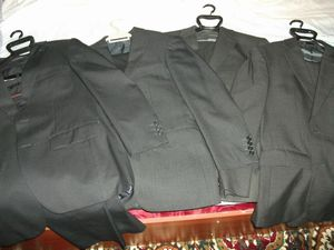 日本から持ってきたスーツ