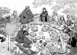 ウズベキスタンの食事風景
