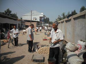 ウズベキスタンの風景(フェルガナ州 リシタン町)