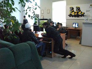 ウズベキスタンのネットカフェ